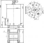 Вертикальный смеситель для приготовления раствора кальцинированной соды