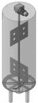 Мешалка листовая с якорной насадкой для денитрификатора