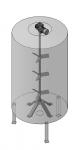 Пропеллерная мешалка  для перемешивания крахмального клея