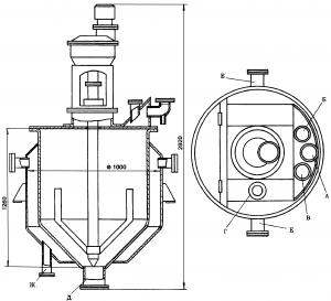 Кристаллизатор емкостью 630 л