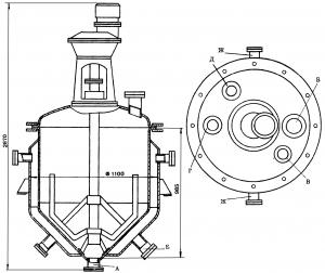 Кристаллизатор емкостью 850 л