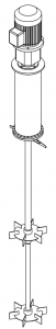 мешалка турбинная для полимеризации