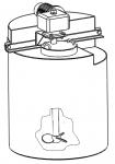 Пластиковый бак приготовления реагентов с лопастной мешалкой