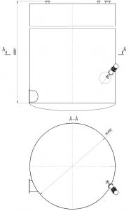 ёмкости сбора дистиллерной жидкости с боковой мешалкой