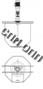ёмкость мешалка лопастная керамическая глазурь