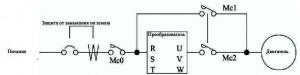 подключение ПЧ к двигателю мешалки